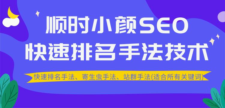 2020最新SEO快速排名手法技术教程+寄生虫手法+站群手法